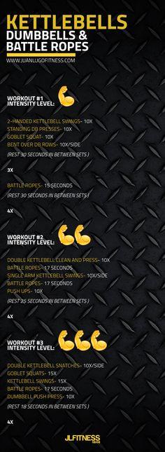 #fitness #dumbbells #kettlebells #wod #workout #battleropes #metcon