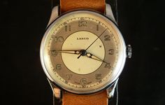 Vintage bicolor Lanco watch
