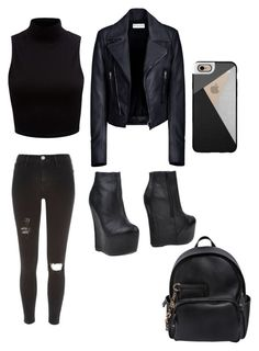"""""""Untitled #18"""" by sxrxxrxs ❤ liked on Polyvore featuring River Island, Jeffrey Campbell, Casetify, Forever New, Balenciaga and Dsquared2"""