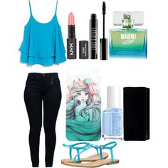 Untitled #17 by lilface1982 on Polyvore featuring polyvore, fashion, style, MANGO, Armani Jeans, MIA, Disney, Lord & Berry and Essie