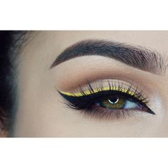 Super gorgeous @Miaumauve #Makeup #eyeliner #yellow