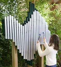 having musical instruments (student made or real) available for children to use … – natural playground ideas Kids Outdoor Play, Outdoor Play Spaces, Outdoor Fun, Outdoor Learning, Natural Playground, Outdoor Playground, Playground Ideas, Children Playground, Music Garden