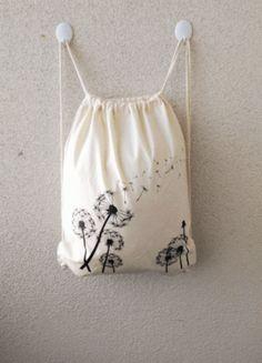 Kaufe meinen Artikel bei #Kleiderkreisel http://www.kleiderkreisel.de/accessoires/accessoires-sonstiges/128178492-turnbeutelrucksack-motiv-pusteblume-hochwertiger-siebdruck