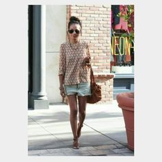 Miu Miu blouse in geo print - get the look Lovely blouse, perfect for any occasion. Looks great under a suit blazer or with a pair of jeans. Miu Miu Tops Blouses