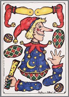 Bilderesultat for bastelbogen hampel Paper Puppets, Paper Toys, Paper Crafts, Victorian Paper Dolls, Paper People, Paper Animals, Toys Shop, Soft Dolls, Old Toys