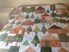 Cabin in the Woods Quilt by Dorothy White 2014
