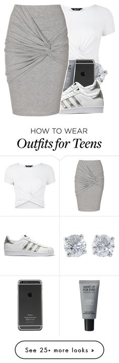 """""""9:47"""" by v-iews on Polyvore featuring New Look, Tiffany & Co., MAKE UP FOR EVER, adidas Originals and Jane Norman"""