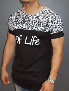 """N&R Men 2 Tone """"Runway Of Life"""" T-shirt - Black"""