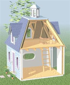 Lighthouse Playhouse Woodworking Plan Your kids will become the most popular kids in the neighborhood when you build them this terrific playhouse with the help of our plan. You'll be amazed at how eas