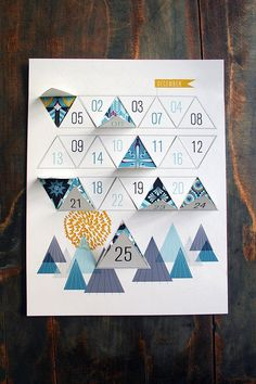 Downloadable Winter Advent Calendar PDF – JHill Design Map Prints