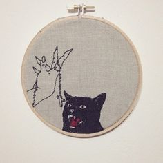 """A fantastic embroidered piece by Australian artist, Adipocere.   Based in Melbourne, Australia, the embroidery artist known as """"Adipocere,"""" adopted a word that has several somewhat sinister synonyms such as """"grave wax,"""" """"corpse wax,"""" or """"mortuary wax."""" By definition, adipocere is a light-gray substance produced by a cadaver as their fatty tissue decomposes—making the word a perfect match for the artist's delightfully dreadful embroidery.   Adipocere (aka """"Josh"""") has been involved in the…"""