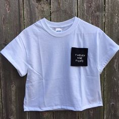 Twenty One Pilots Hand Embroidered Pocket T Shirt by APenToPaper