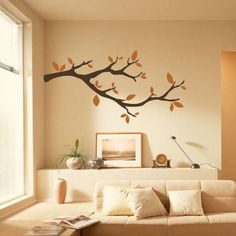 Description: Size: S: W x H ( x ) M: W x H ( x ) L: W x H ( x ) Category: Branches Wall Stickers Material: Vinyl Wall Stickers Room : bedroom, living room, Kids Room Color : Black, Orange Includes : Branches, Leaves Shabby Chic Living Room, Living Room Modern, Home Living Room, Living Room Designs, Wall Stickers Room, Vinyl Wall Decals, Tree Wall Decor, Living Room Storage, Living Room Inspiration