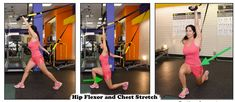 Suspension Stretch Gallery - Suspension Fitness & Beyond Quad Stretch, Stretch Bands, Stretches For Runners, Suspension Trainer, Good Posture, Workout For Beginners, Moving Forward, Health And Wellness, Thighs