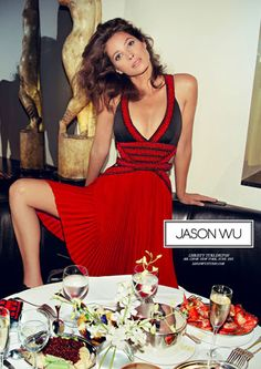 My beauty icon past, present and future! Christy Turlington, Jason Wu ad (from Elle.com)