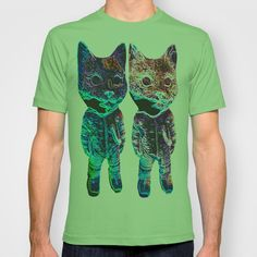 Twin Lectro kitty T-shirt by Runny Bunny - $18.00