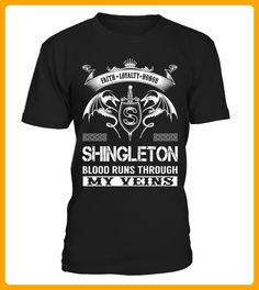 SHINGLETON Blood Runs Through My Veins - Shirts für singles (*Partner-Link)