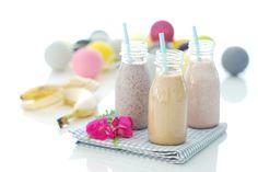 Receta de Smoothies de frutas, una mezcla de frutas y lácteos. Tritúralo todo en tu Thermomix ®.