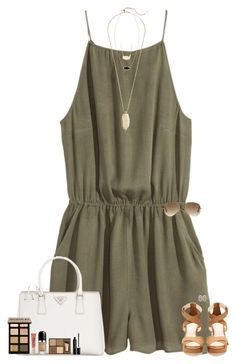 """""""~the best people in life are free~"""" by maggie-prep ❤ liked on Polyvore featuring H&M, Pull&Bear, Prada, Sam Edelman, Kendra Scott, Moon and Lola, Bobbi Brown Cosmetics, Marc Jacobs, Ray-Ban and Too Faced Cosmetics"""