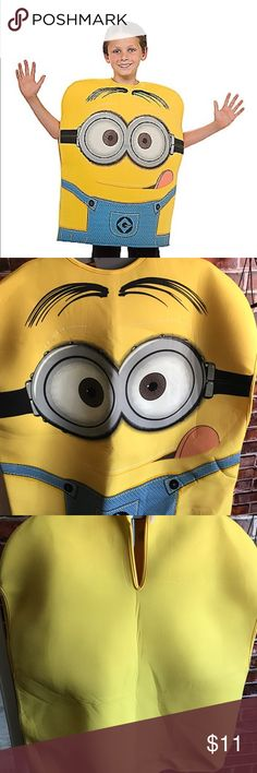 Kids Minion Costume Pullover Minions- Despicable ME Medium Size kids. Perfect for a 6 year old. No bag, worn it once. Costumes Halloween