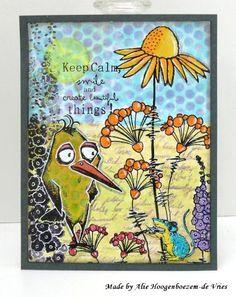 Alie Hoogenboezem-de Vries: 3 cards with the Tim Holtz Crazy Birds and a short blogbreak...