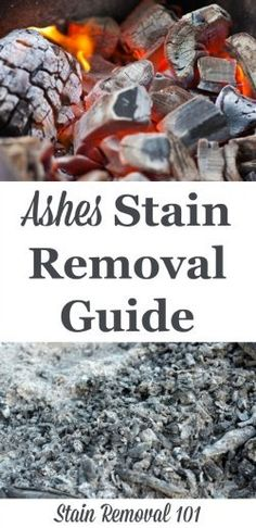 Step by step instructions for ashes stain removal from clothing, upholstery and carpet {on Stain Removal 101}
