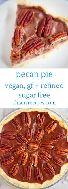 This Pecan Pie is crispy, buttery and flaky, loaded with toasty pecans, and tastes like caramel! It's vegan, gluten-free and refined sugar free too!
