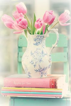 aqua and pinks - #spring #aqua #pink