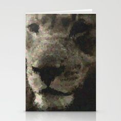 Geometric Lion Stationery Cards by alexandraolivierlecomte Geometric Lion, Stationery, Abstract, Artwork, Cards, Painting, Products, Stationeries, Stationery Shop