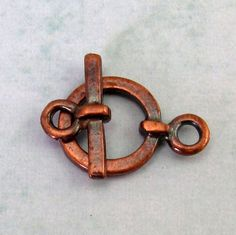 Mykonos Small Toggle Clasp Bronze 2-Sets M131 by FabBeads on Etsy