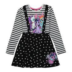 Girls My Little Pony Pinafore Dress Set