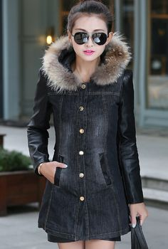 shop for Korean Fitted Slim Cotton Padded Zipper Fly Denim Coat and more for everyday cheap prices at Lalalilo.com - Your Online Womens Clothes Store