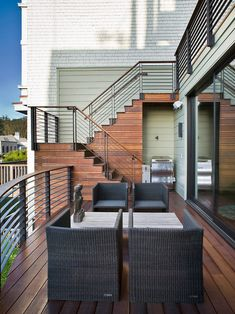 Contemporary +exterior +stair +railing Design, Pictures, Remodel, Decor and Ideas - page 2