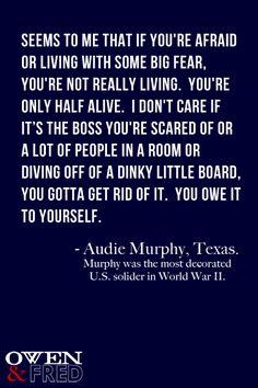 Audie Murphy - straight shootin' Texan!