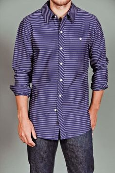 Brooklyn Industries Axis Horizontal Stripe Shirt