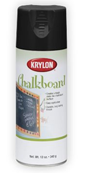 Krylon Chalkboard Paint has a smooth, slate-like finish, perfect for creating or resurfacing chalkboard surfaces. #DIY #crafts
