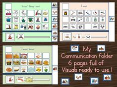 The communication boards Included:- 6 Communication Boards titled :- I want to play, I feel, I need in lessons, I want to eat, What activity I want to do, Personal needs, Plus:- 120 Picture symbols