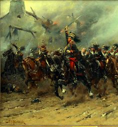 Charge of the French cuirassiers, Franco-Prussian War