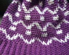 Crochet el sombrero de invierno adulto