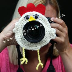 Chicken little lens buddy. Camera critter. Photographer helper