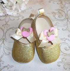 Traje de oro y rosa Minnie Mouse primer por SweetestBabyCreation