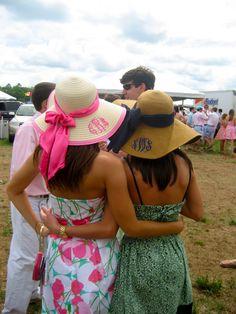 Monogrammed floppy hat!!! Ugh so sad there aren't fun preppy horse races in Arizona :(