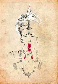 Odissi/Orissi of Odisha - Beautiful classical Indian dance. Dance Paintings, Indian Art Paintings, Abstract Paintings, Oil Paintings, Pencil Art Drawings, Art Drawings Sketches, Art Du Croquis, Indian Illustration, Dancing Drawings