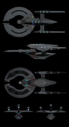 Federation Dreadnought plans by calamitySi.deviantart.com on @deviantART