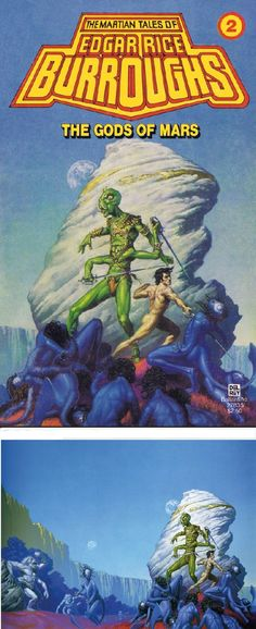MICHAEL WHELAN - The Gods of Mars by Edgar Rice Burroughs - 1979 Del Rey / Ballantine