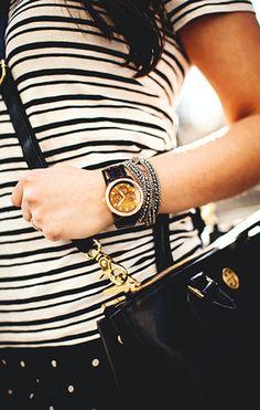black. white. gold