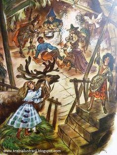 Snow queen Hans Christian, Snow Queen, Illustrators, Fairy Tales, Painting, Art, Art Background, Painting Art, Kunst