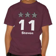 11 Birthday Boy Stars Big Number Custom Name V07 Shirts