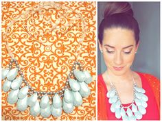 DIY Tear Drop Necklace. Miss, we so have to try this!