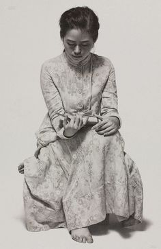 Das Detail in diesen Gemälden von Leng Jun ist erstaunlich Fotos) - Kunst Figure Sketching, Figure Drawing, L'art Du Portrait, Portraits, Life Drawing, Painting & Drawing, Image Avatar, Hyper Realistic Paintings, Academic Art